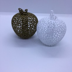 Free 3d print files Voronoi apple, juanpix