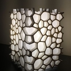 Download free 3D printer model Voronoi lamp, juanpix