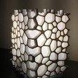 Objet 3D lampe voronoi, juanpix