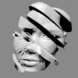 Free 3D printer files Sliced woman's head, juanpix
