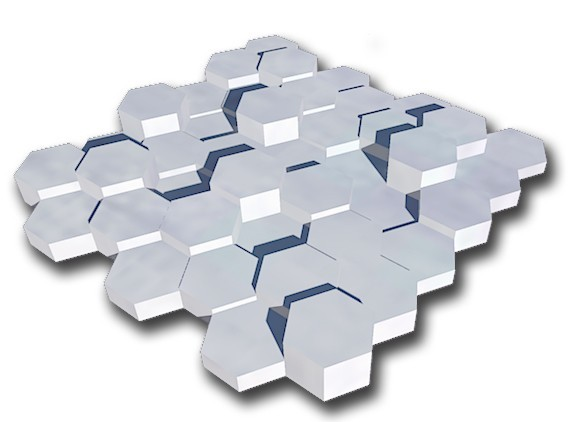 plaque exago.jpg Download free STL file exagonal decorative wall plate • 3D printer template, juanpix