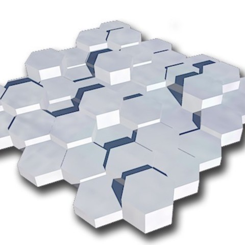 free stl exagonal decorative wall plate cults. Black Bedroom Furniture Sets. Home Design Ideas