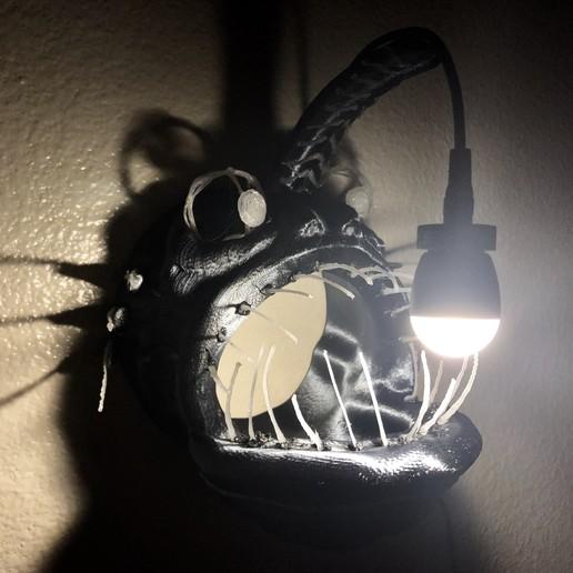 IMG_6518.jpg Download free STL file Angler Fish Lamp • 3D printable template, coolthingsbyjacob