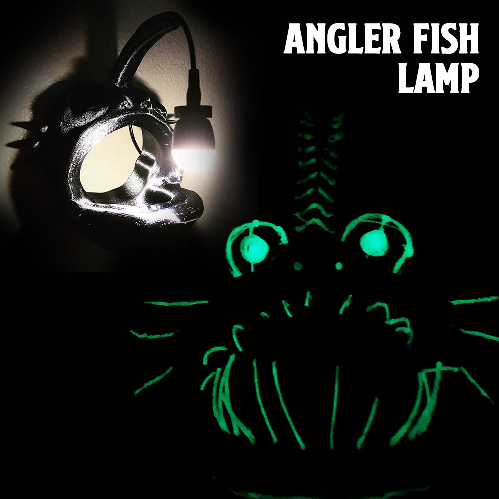 Angler Fish Lamp Cover.png Download free STL file Angler Fish Lamp • 3D printable template, coolthingsbyjacob