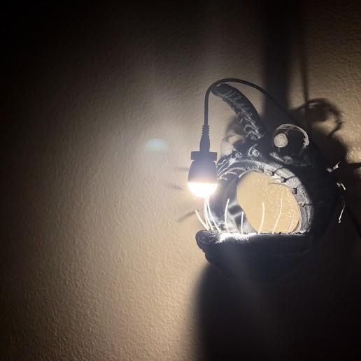 IMG_6521.jpg Download free STL file Angler Fish Lamp • 3D printable template, coolthingsbyjacob