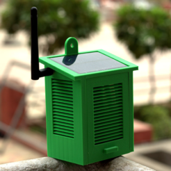 Free Solar Powered WiFi Weather Station 3D model, deba168