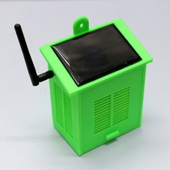 Download free 3D printing templates Solar Powered WiFi Weather Station V2.0, deba168