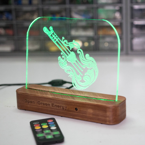 Free DIY Acrylic RGB LED Sign 3D model, deba168