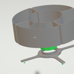 Imprimir en 3D gratis organizador bobina filamento, gabrielrf