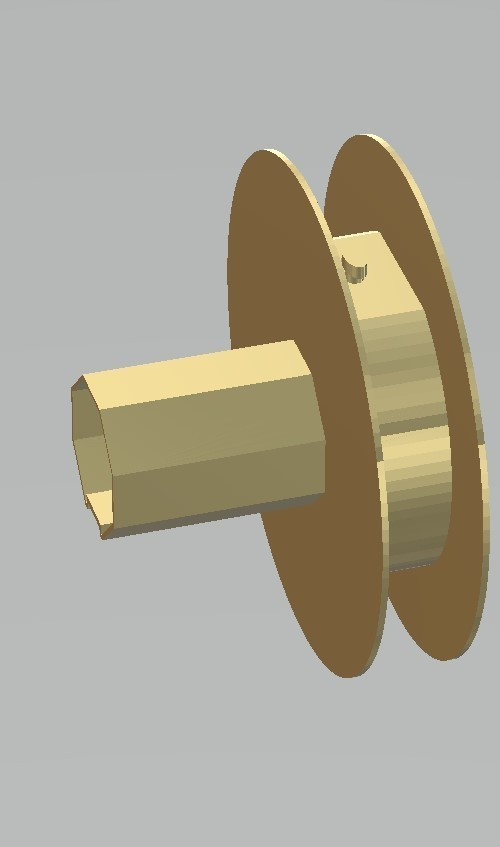 polea persiana2.jpg Download free STL file pulley for blind rope • Design to 3D print, gabrielrf