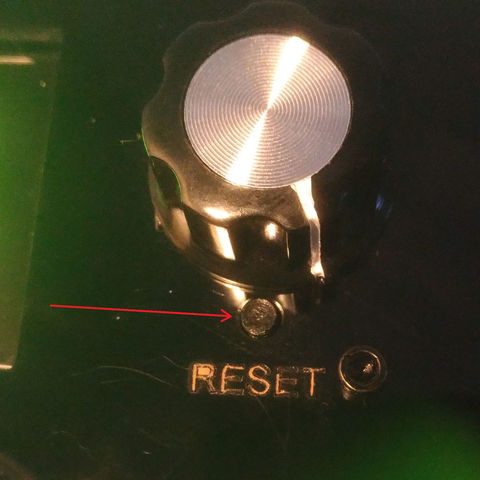 Free 3d printer designs Reset button for Geeetech Prusa I3 X, FabLabduDon