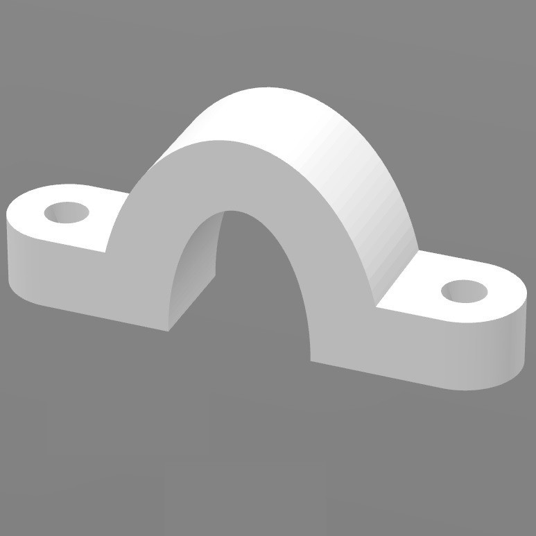Pontet passe-câble.jpg Download free STL file Cable tie for Geeetech Prusa I3X • Design to 3D print, FabLabduDon