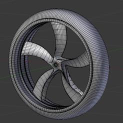 Bladed wheel consept.png Download STL file bladed concept wheels  • 3D printer object, pathfinder646