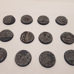 Download 3D printer designs 40k bases, DPRmodels