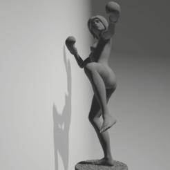Download 3D printing templates female kick-boxing, 3D-XYZ