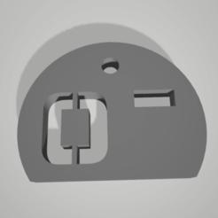 o-.png Télécharger fichier STL key chain pendant blood group rhesus O- • Plan pour imprimante 3D, 3D-XYZ