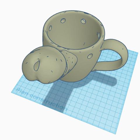 STL files penis mug, 3d-3d-3d