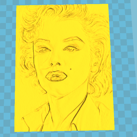 Download 3D printing files marilyn monroe litho, 3d-3d-3d
