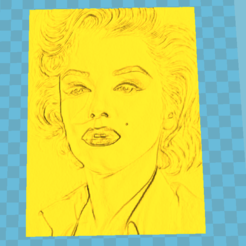 3D printer files marilyn monroe litho, 3d-3d-3d