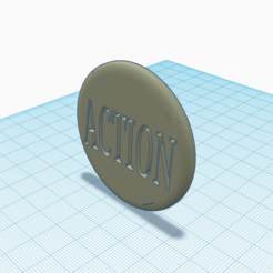 3D print model action/truth token, 3d-3d-3d