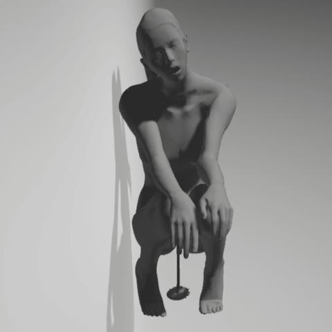 Download 3D printing templates woman pee, 3D-XYZ