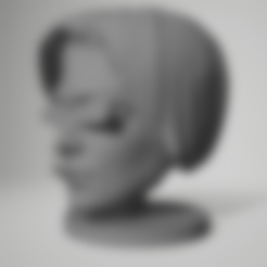 Download 3D print files female face life size with cum + stand, 3d-3d-3d