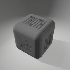 Download 3D printer templates dice truth or dare, 3d-3d-3d