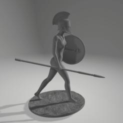 Download 3D printer templates female spartan, 3D-XYZ