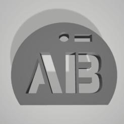 ab-.png Télécharger fichier STL key chain pendant blood group rhesus AB- • Objet pour imprimante 3D, 3D-XYZ