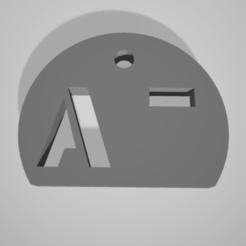 a-.png Télécharger fichier STL key chain pendant blood group rhesus A- • Plan à imprimer en 3D, 3D-XYZ