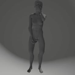 Download 3D printer templates girl take shower, 3D-XYZ