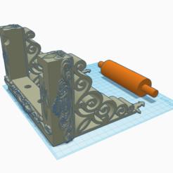 3D printer models toilet paper holder, 3d-3d-3d