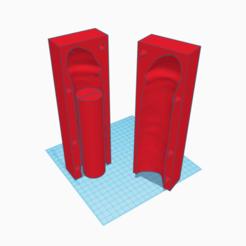 3D print model mold dildo sheath, 3d-3d-3d