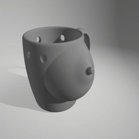 Download 3D printing models breast mug, 3d-3d-3d