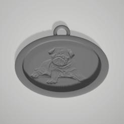 Download 3D printing models pug key chain, 3D-XYZ