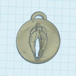 Imprimir en 3D llavero coño, 3d-3d-3d