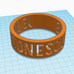 Archivo 3D anillo, devine