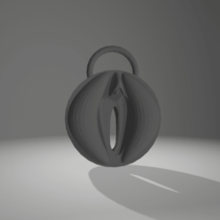 Sans titre.png Download STL file keychain vagina • 3D printer design, 3D-XYZ