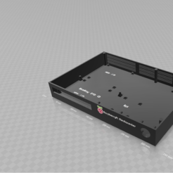 Download free 3D print files RaspberryPi Mediacenter case, StephanL