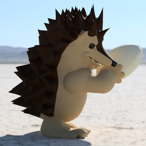 Free stl Rugby player hedgehog, Stenoxp