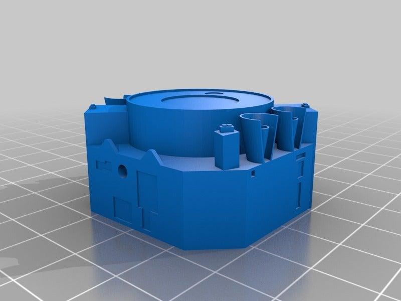 chandrabase.png Télécharger fichier STL gratuit Observatoire de rayons X de Chandra • Objet pour impression 3D, Mostlydecaf