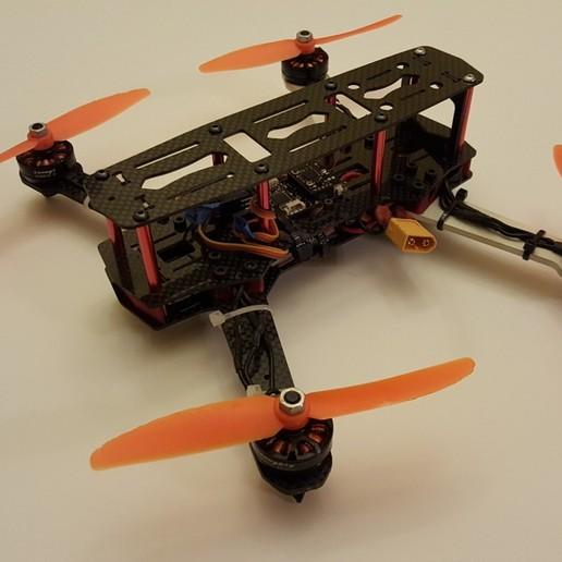 quad1.jpg Download free STL file ZMR250 Quadcopter Landing Gear Legs for Sunnysky 2204 Motors • 3D printable object, Mostlydecaf