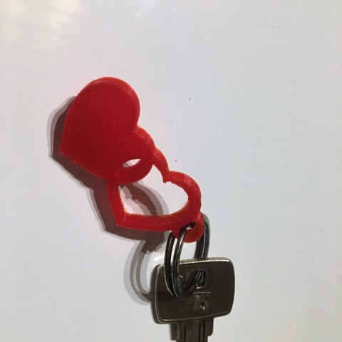Photo 01.01.18, 17 14 58.jpg Download free STL file heart key chain • 3D print model, BScheidt