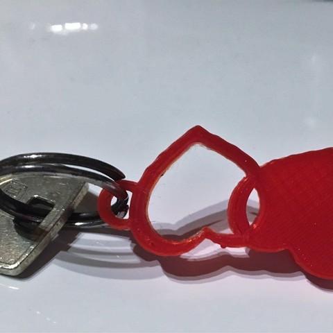 Photo 01.01.18, 17 15 17.jpg Download free STL file heart key chain • 3D print model, BScheidt