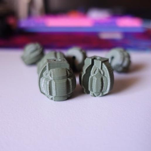 image.png Download free SCAD file Grenade Spoke Bead • 3D printer object, motherfucker
