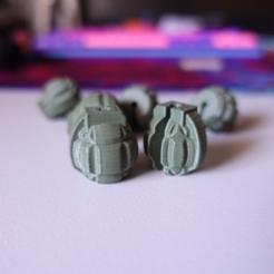 Download free 3D printing files Grenade Spoke Bead, motherfucker