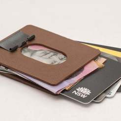 IMG_8808.jpg Download free STL file Binder Clip Wallet - Very slim and secure • 3D printing design, motherfucker