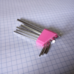 Download free 3D printing files Simple Parametric Allen Hex Key Holder, motherfucker