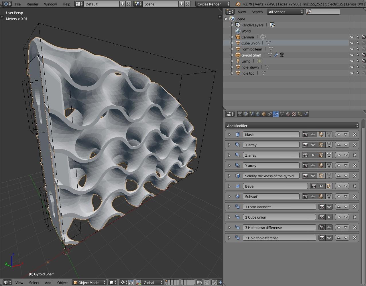 Giroid Shelf Custom.jpg Télécharger fichier STL gratuit Support d'étagère pour gyroïde • Design pour impression 3D, Az3Dip
