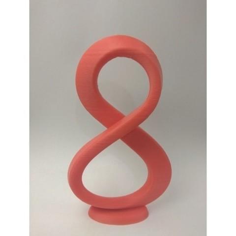 Download free 3D printer designs Mobius strip 8 castomisable in blender, Az3Dip
